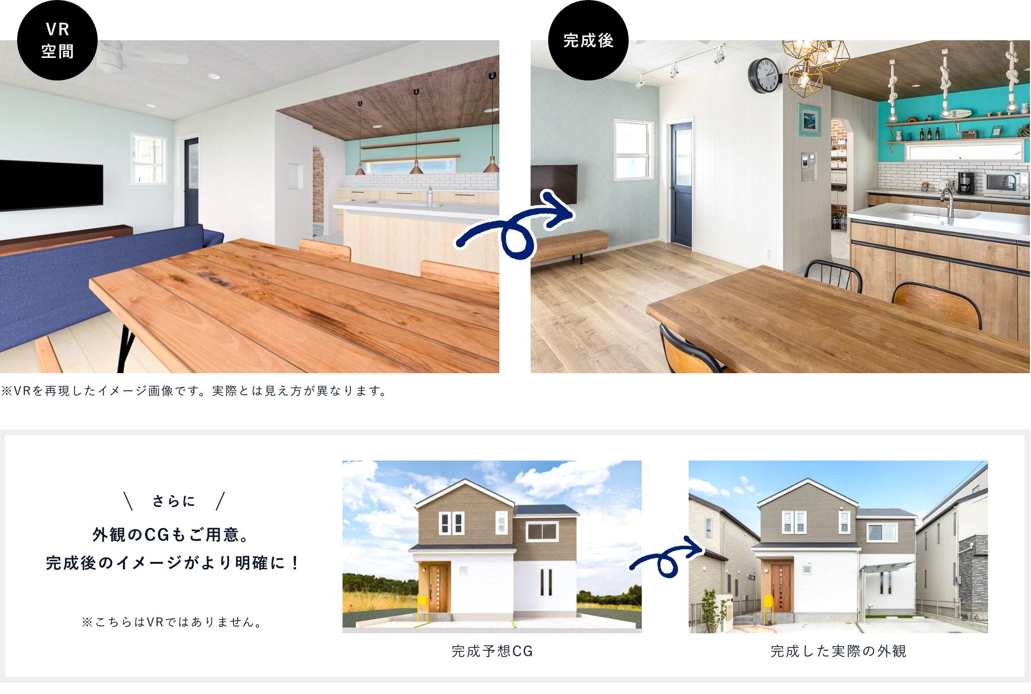 完成後の家をほぼ完璧に再現