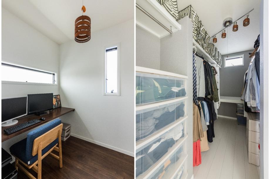 書斎やウォークインクローゼットなど使いやすい空間が他にもたくさんあります。